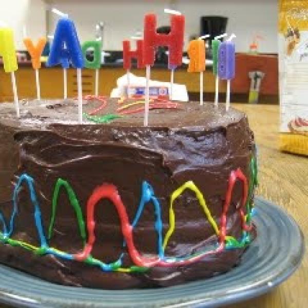 Brugmansia cake for Julia's birthday, 2013