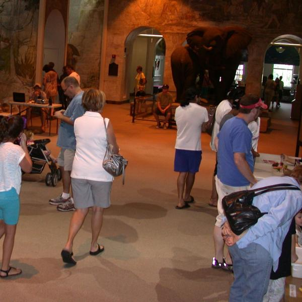 Visitors tour our Sunday with a Scientist at the State Museum. July 15, 2012
