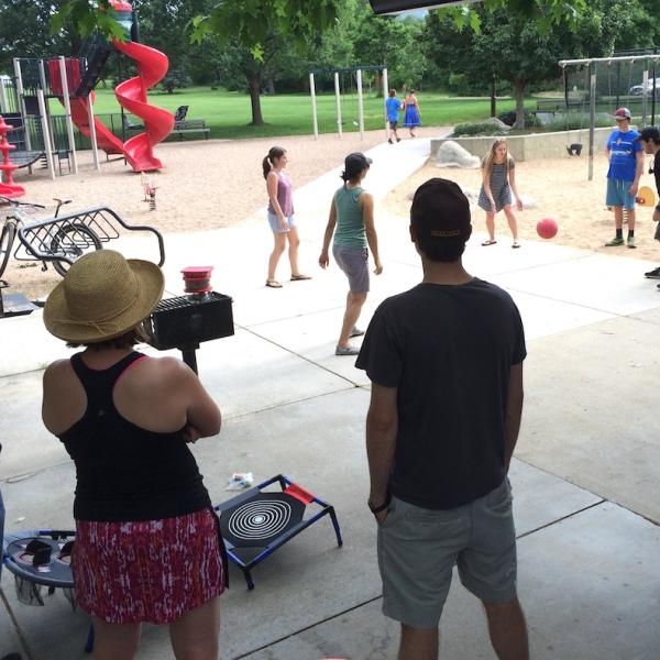 Always a good time for four square!  Summer 2017