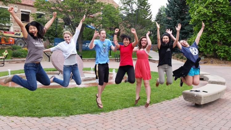 Leaping lab! Summer 2015.  Julienne, Lauren, Jeff, Kai, Jessica, Kathy, Cat