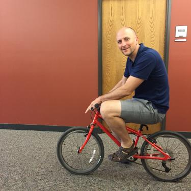 McKell on his bike