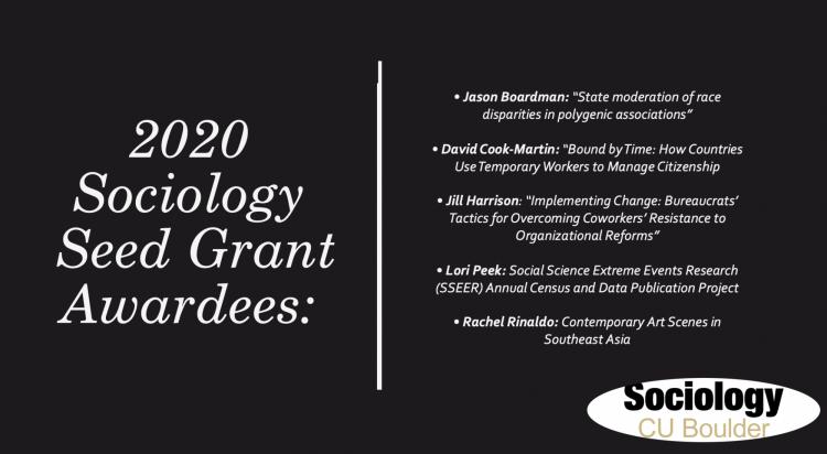 Seed Grant Awardees