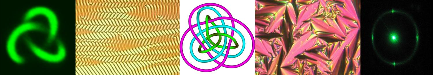 Trefoil knots, cholesteric textures and diffraction pattern