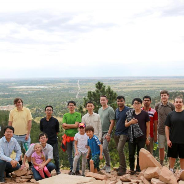 Group hiking in September of 2018