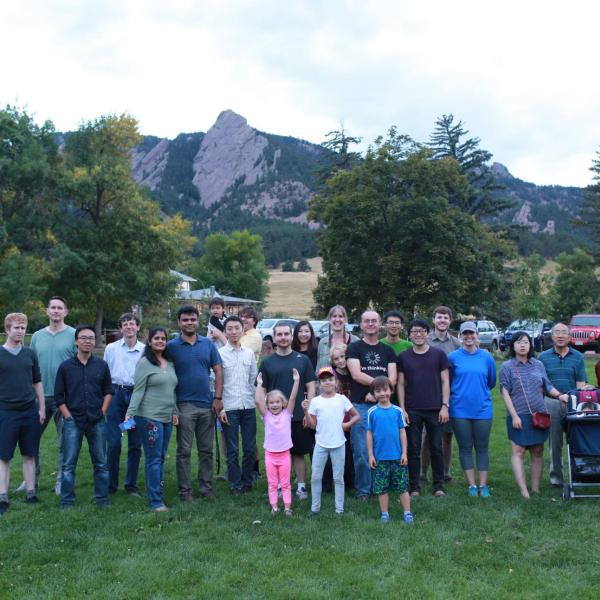 Group hiking and picnic in September of 2018