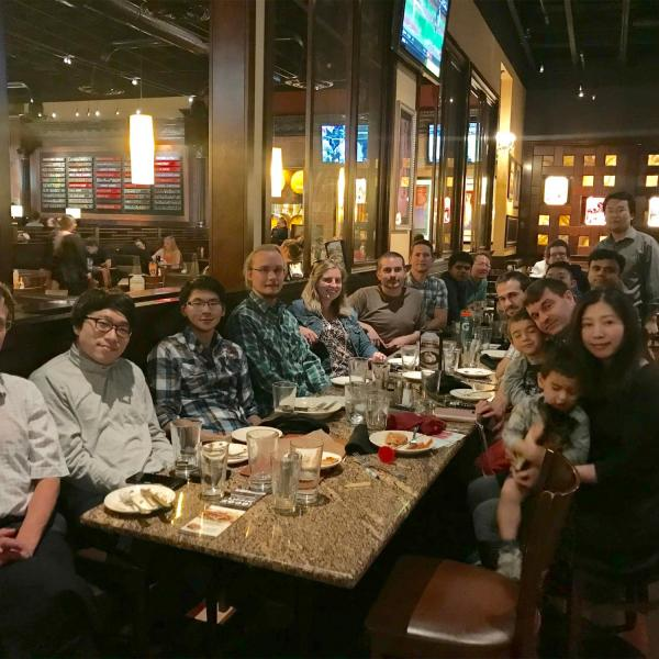 Farewell party for Qingkun in September of 2018
