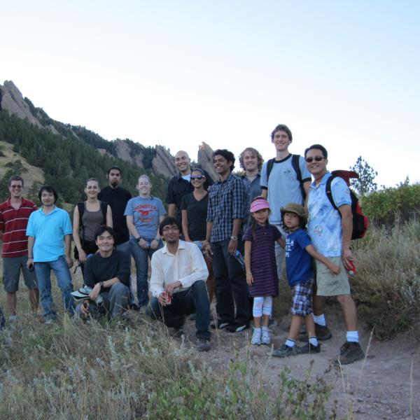 lots of fun during a group hike in 2010