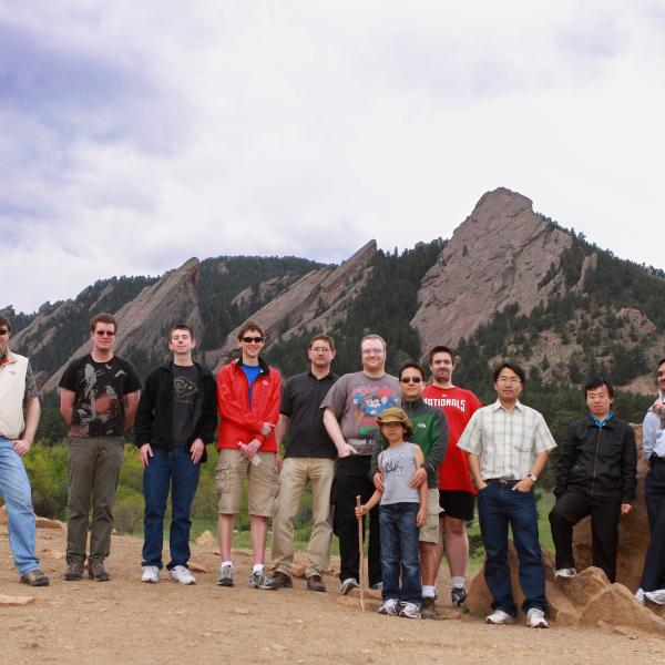 group members before a group hike in 2012