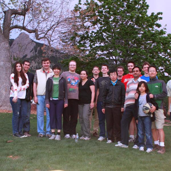 a group BBQ after the hike in 2012