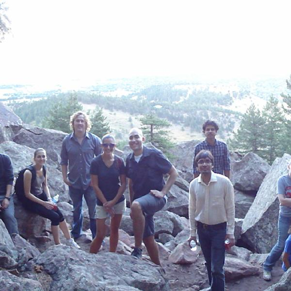 A group at the top of Flatirons in 2009