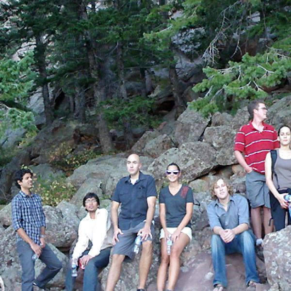 During a group hike in 2009