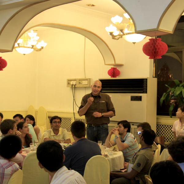 Dennis is speaking at the attendees meeting during I-CAMP 2009