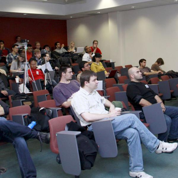 Group members attending lectures at the I-CAMP 2010 summer school in Australia in 2010