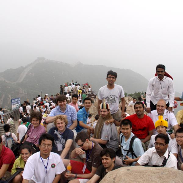 At the Great Wall of China during I-CAMP 2009 in China