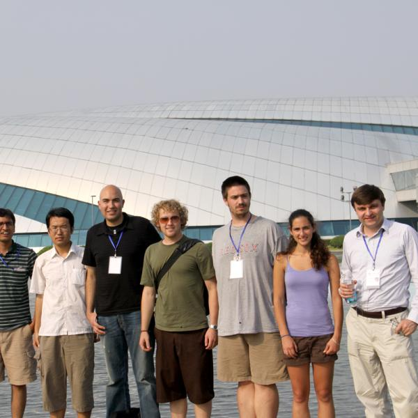 Ivan Smalyukh and his research group in Shanghai during I-CAMP 2009 in China