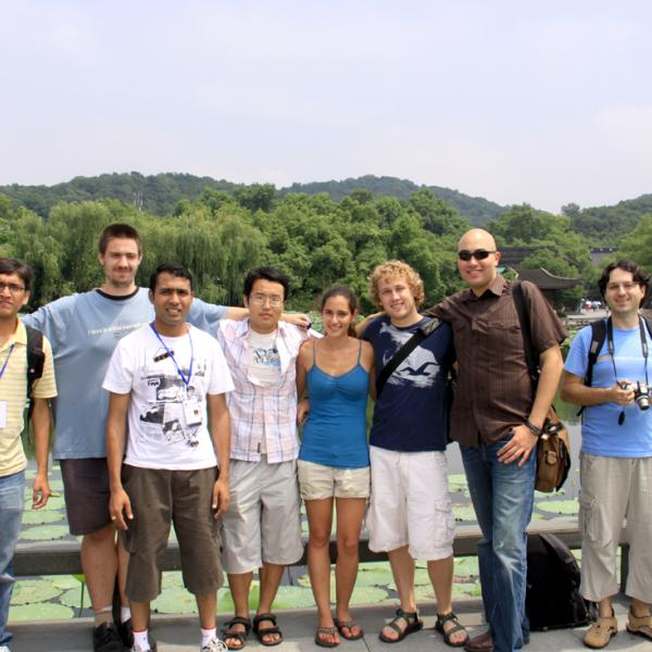 Group members in Hangzhou during I-CAMP 2009 in China