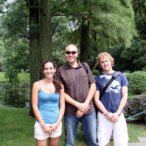 Corinne Beier, Dennis Gardner and Tyler Wingfield in Hangzhou during I-CAMP 2009 in China
