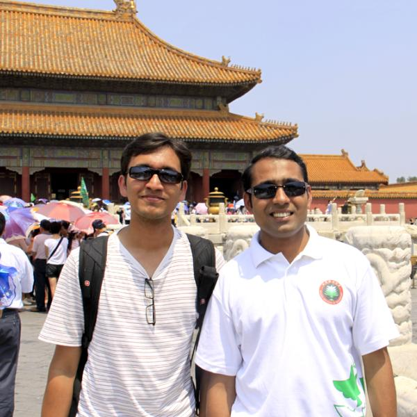 Rahul Trivedi and Rajdeep Deb in Beijing during the I-CAMP 2009 in China