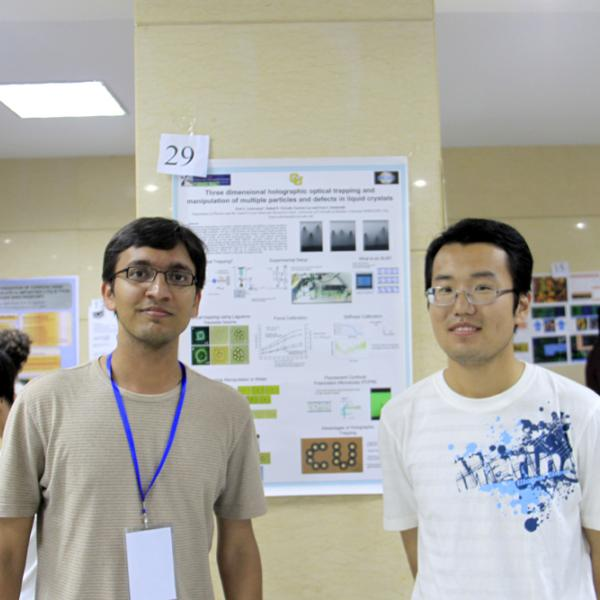 Rahul Trivedi and Qingkun Liu at the Beijing poster session during the I-CAMP 2009 in China