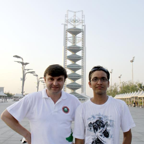 Ivan Smalyukh and Rahul Trivedi in Beijing during the I-CAMP 2009 in China