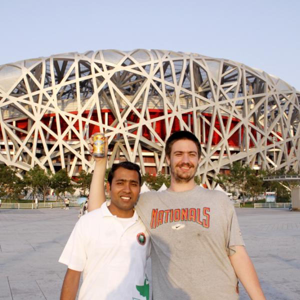 Rajdeep Deb and Julian Evans in Beijing during the I-CAMP 2009 in China