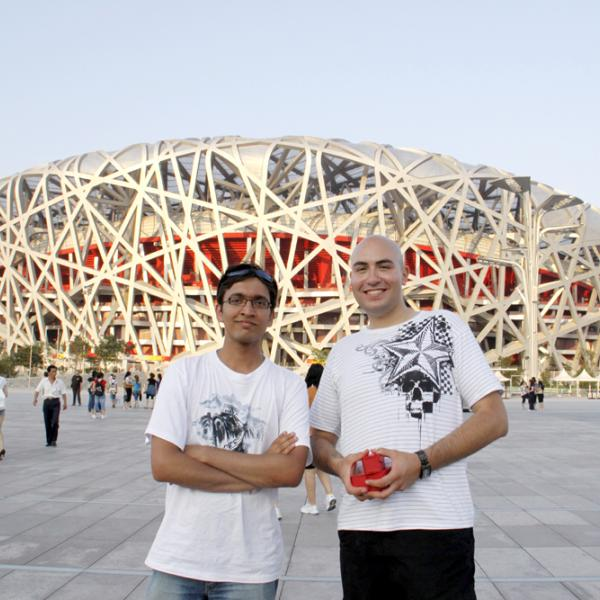 Rahul Trivedi and Dennis Gardner in Beijing during the I-CAMP 2009 in China