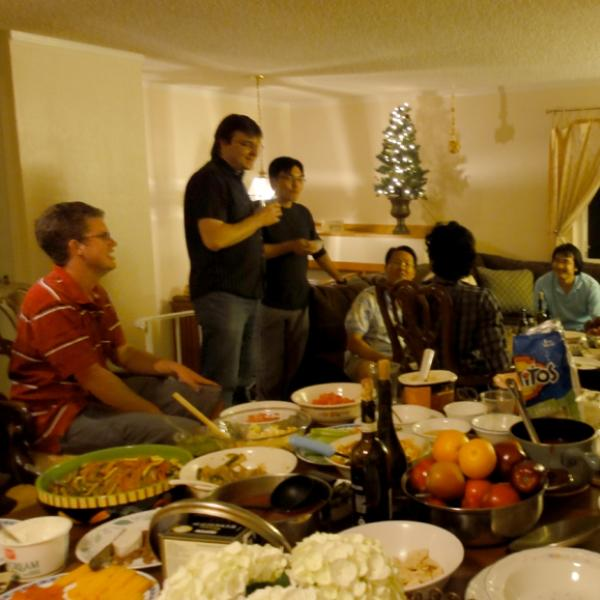Group members having a party in 2010