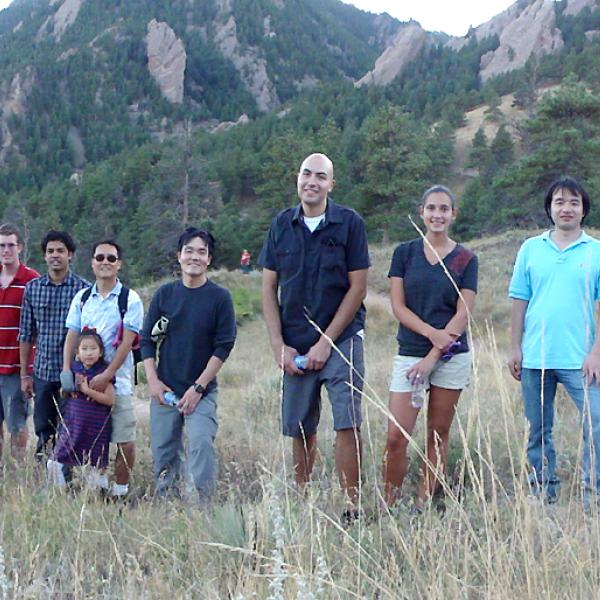A group hike in summer 2009