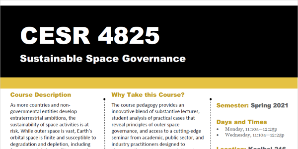 Sustainable Space Governance