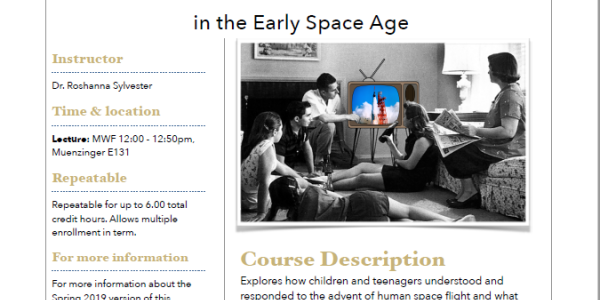 Kids, Media, and Information in the Early Space Age