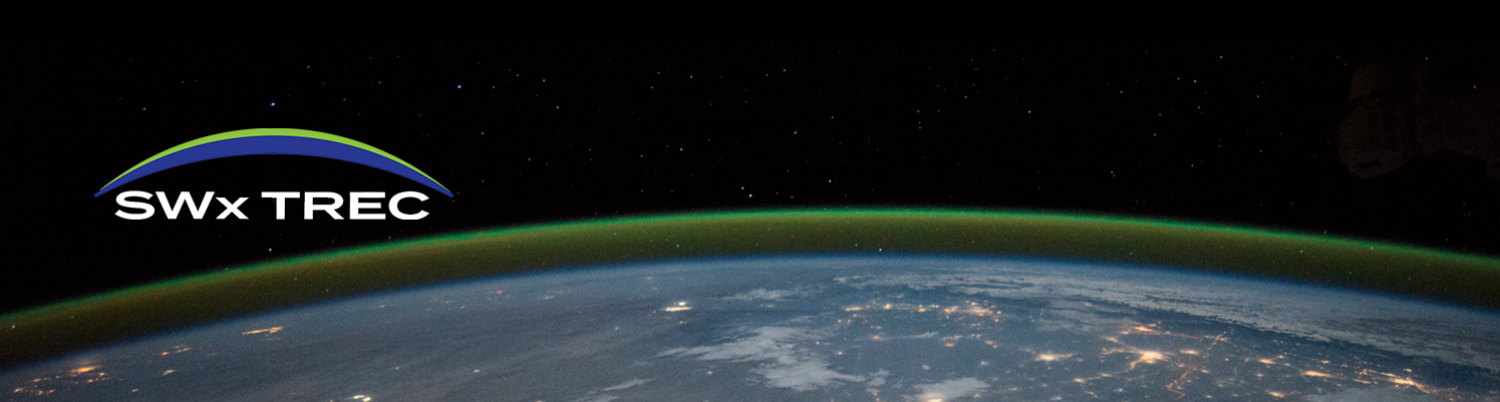 green airglow over planet earth