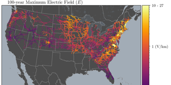 Geoelectric field impact on transmission lines in the US