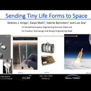 "Cover slide from ""Sending tiny life forms to space"" presentation"