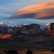 Lenticular clouds over Sand Dunes National Park