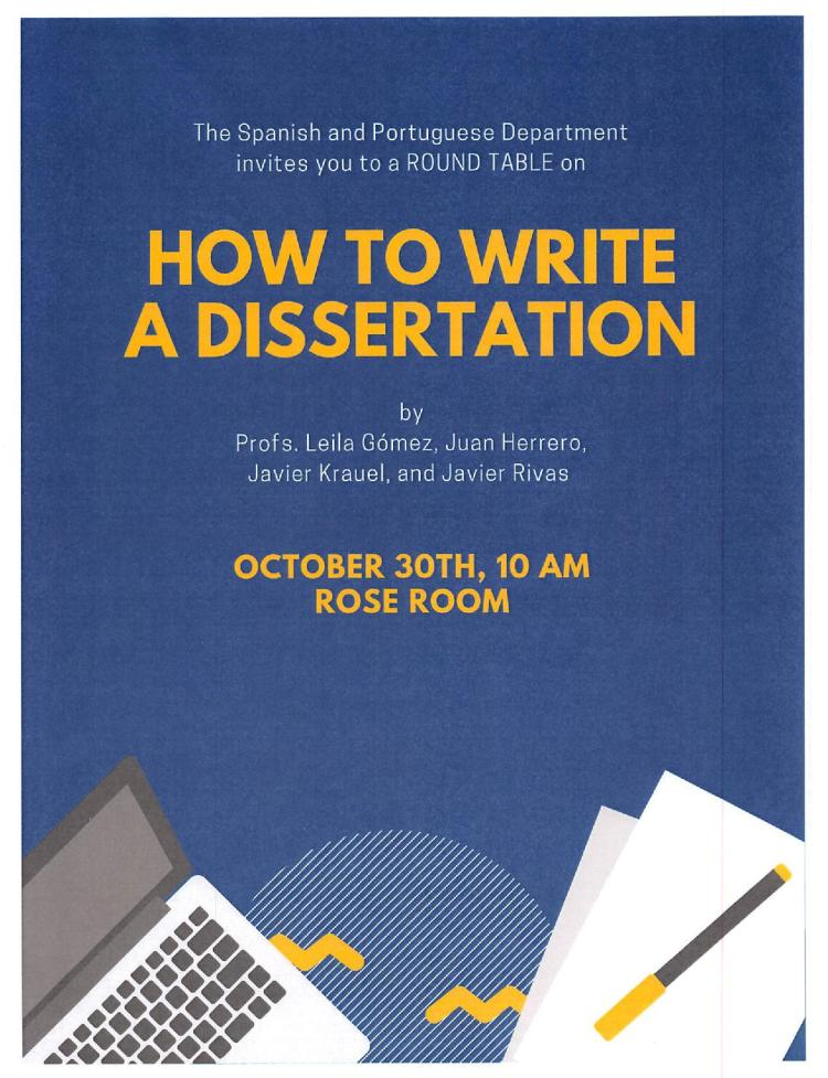 how to write a dissertation flyer