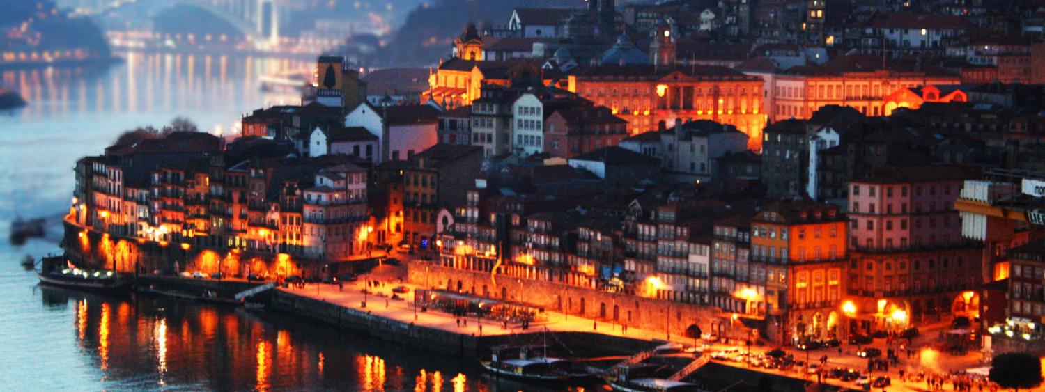 Porto. Portugal at Sunset