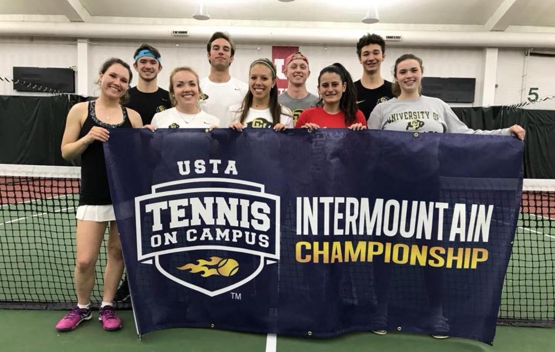 CU Boulder Tennis team Internmountain championship