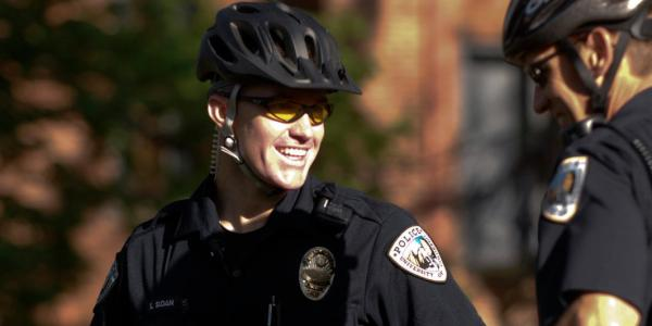 CUPD officers on campus