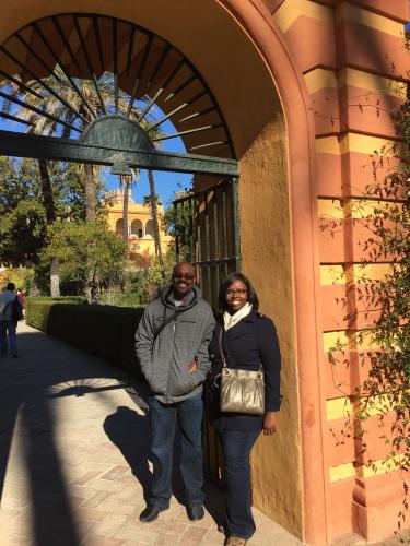 Aisha and her husband, Jelliffe Jackson