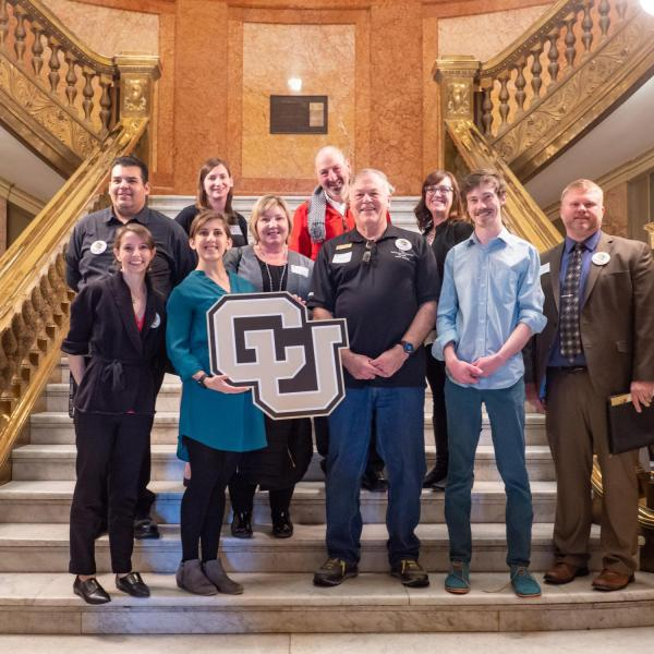 Staff Council CU Advocacy Day Group Picture