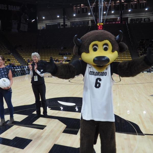 Chip at the Chancellor's Employee of the Year Basketball Game