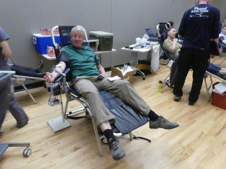 Blood Donor Brian Robinson Saving lives in April 2019