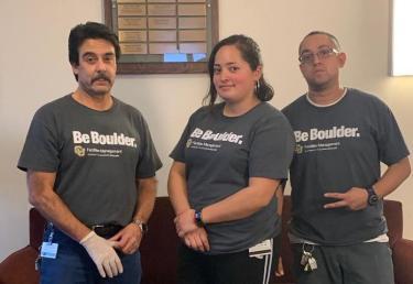 Mike Jarest, Claudia Acosta, and Jorge Ruelas