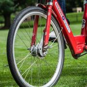 BCycle close up on the Quad