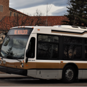 Buff bus on campus