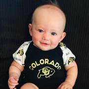 Baby Siniteke Rose in CU Buff shirt