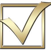 gold check mark