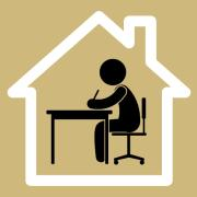 Work from home clipart