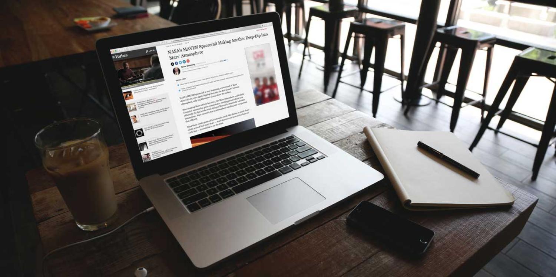 Maven story displaying on laptop computer