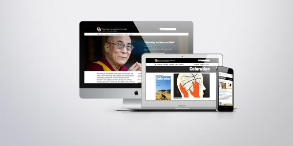 Websites on a laptop and mobile device